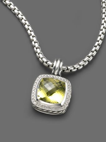 David Yurman Albion Lemon Citrine Enhancer - Lyst