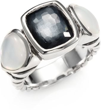David Yurman Moon Quartz Crystal Motherofpearl Sterling Silver Ring - Lyst
