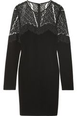 Diane Von Furstenberg Dahlia Stretch Crepe and Lace Dress - Lyst