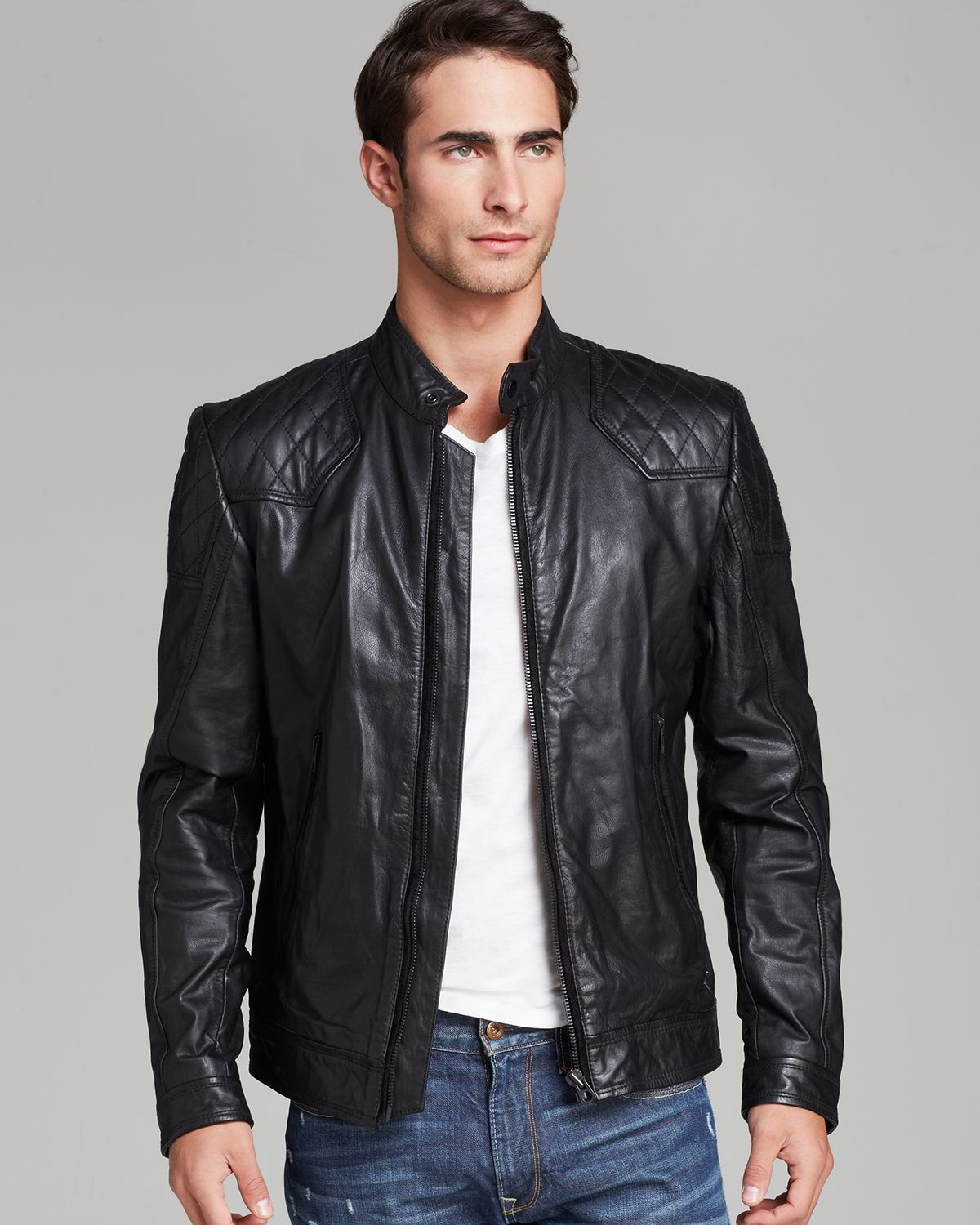 Diesel leather jacket mens – Modern fashion jacket photo blog