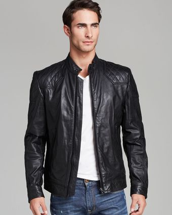 Diesel Laleta Leather Jacket - Lyst
