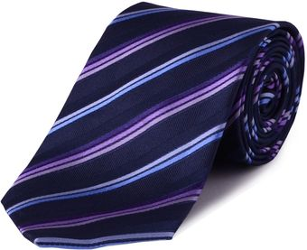 Double Two Stripe Silk Tie - Lyst