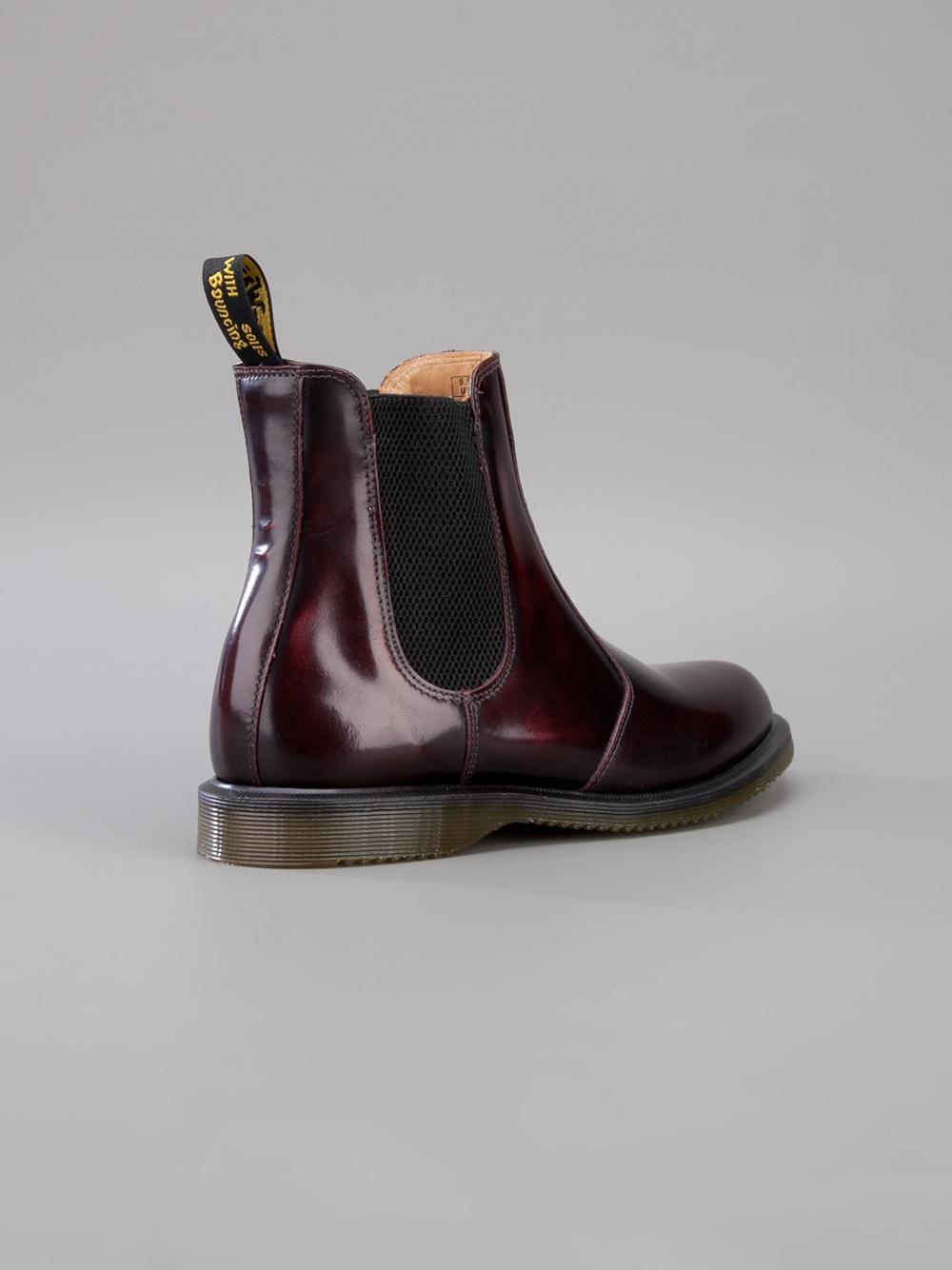 dr martens 39 flora 39 unisex chelsea boot in brown for men lyst. Black Bedroom Furniture Sets. Home Design Ideas