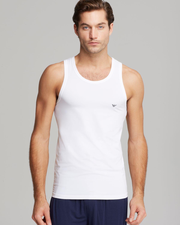 fa260eb3b509a Lyst - Emporio Armani Armani Underwear Big Eagle Tank in White for Men