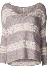 Free People Linus Striped Sweater - Lyst