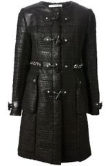 Givenchy Leather Paneled Coat - Lyst