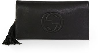 Gucci Soho Leather Clutch - Lyst