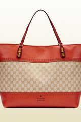 Gucci Laidback Crafty Original Gg Canvas Tote - Lyst