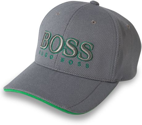 Hugo Boss Boss Green Graphic Hat in Gray for Men (Medium Gray)