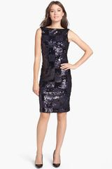 Isaac Mizrahi New York Sequin Shift Dress - Lyst
