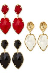 Kendra Scott Selma Faceted Clipon Earrings - Lyst