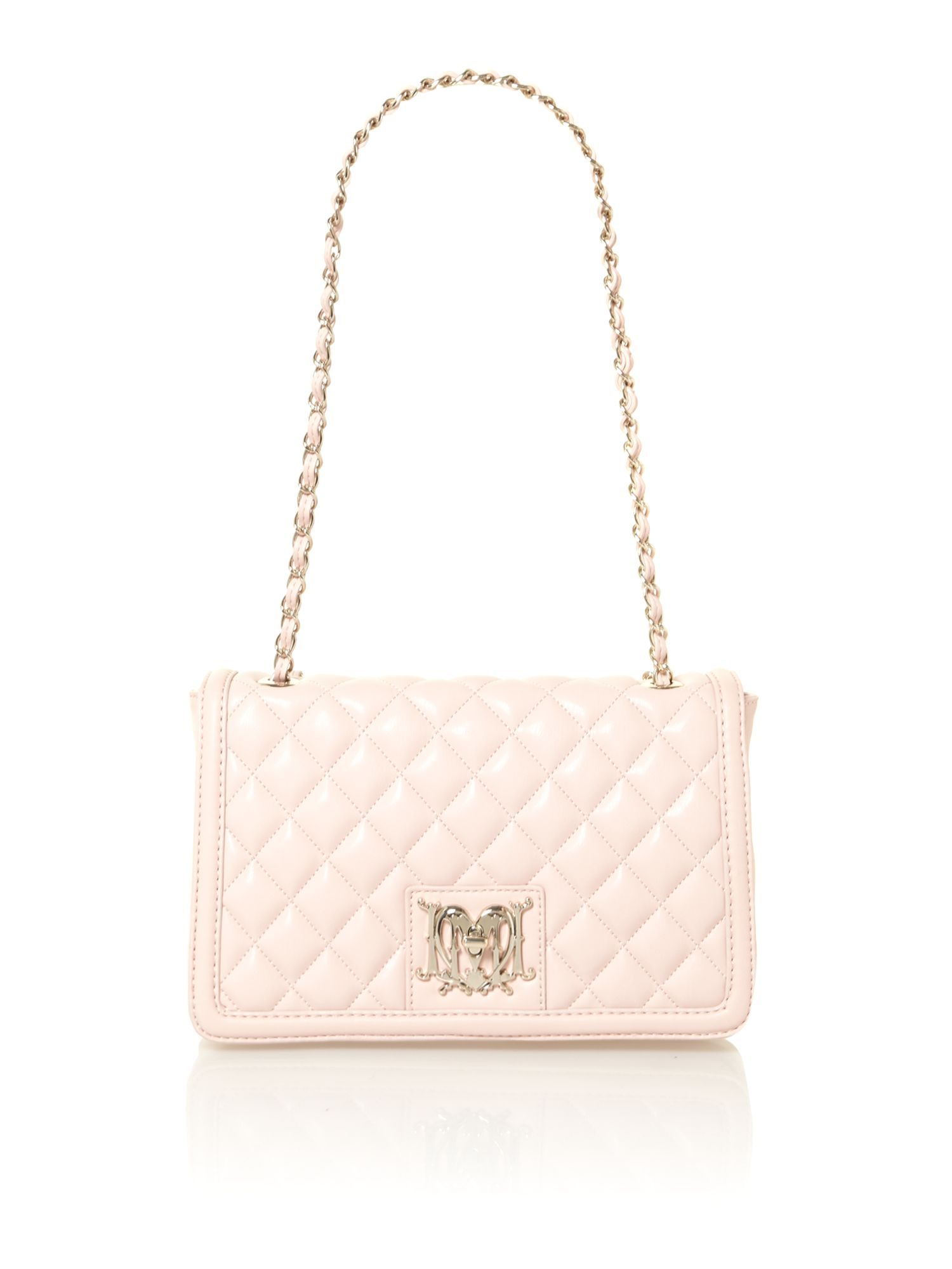 love moschino pink medium quilted bowling bag in pink lyst. Black Bedroom Furniture Sets. Home Design Ideas
