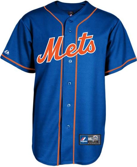 Majestic Mens New York Mets Blank Replica Jersey In Blue For Men Royalblue Lyst