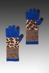 Marc By Marc Jacobs Lenora Leopard Glove in Brown - Lyst