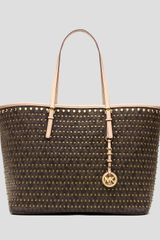 Michael by Michael Kors Tote Jet Set Travel Studded Medium - Lyst