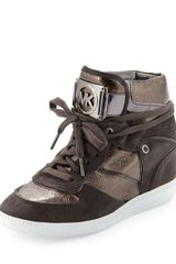 Michael by Michael Kors Nikko Hightop Sneaker - Lyst