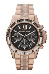 Michael Kors Midsize Rose Golden Stainless Steel Everest Chronograph Glitz Watch - Lyst