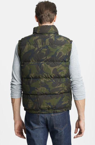 Polo Ralph Lauren Elwood Down Vest In Green For Men Camo