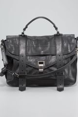 Proenza Schouler Ps1 Medium Satchel Bag Black - Lyst