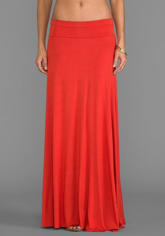 Rachel Pally Long Full Skirt in Burnt Orange - Lyst