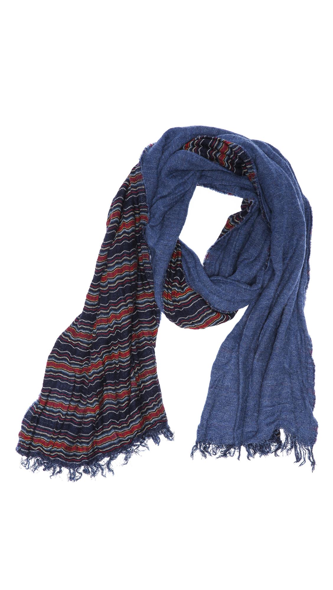 rag bone hanover scarf in blue for