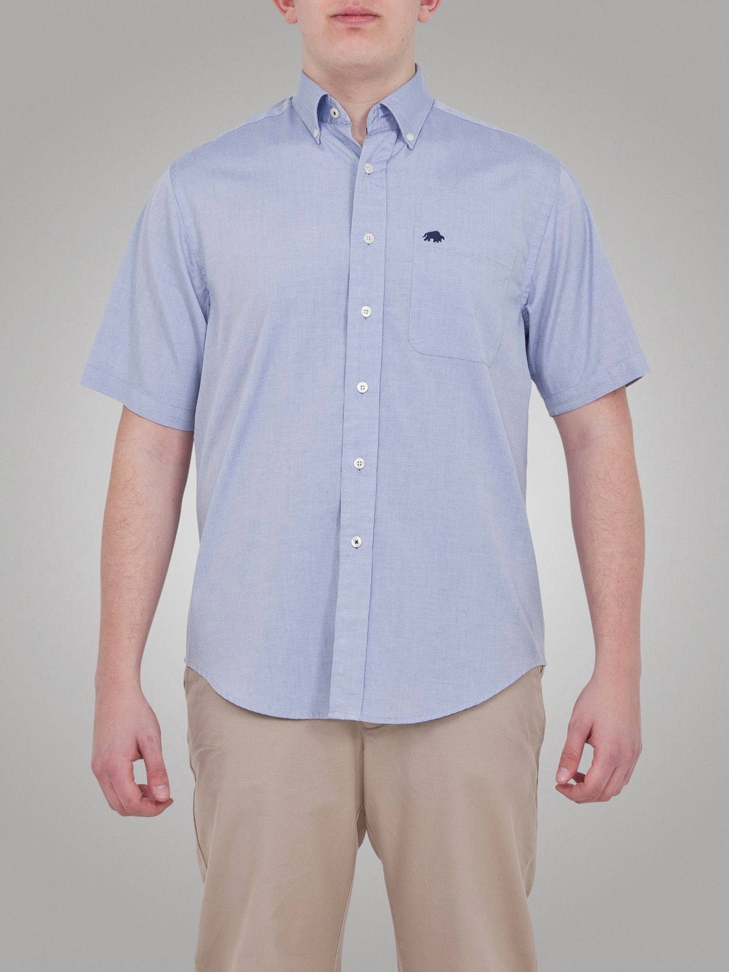 Raging bull big and tall ss oxford shirt in blue for men for Big and tall oxford shirts