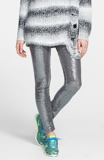 Ralph Lauren Sequin Leggings - Lyst