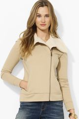 Ralph Lauren Asymmetrical Jacket with Faux Shearling Collar - Lyst
