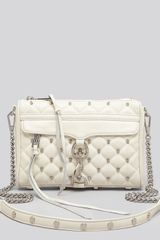 Rebecca Minkoff Crossbody Studded Mini Mac - Lyst