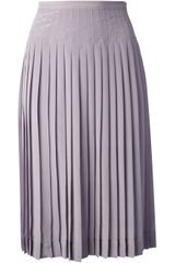 Rochas Pleated Midi Skirt - Lyst
