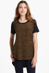 Sandra Ingrish Animal Print Knit Back Top - Lyst
