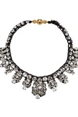 Shourouk Crystal Stud Row Necklace - Lyst