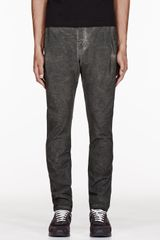 Silent By Damir Doma Olive Washed Pema Trousers - Lyst