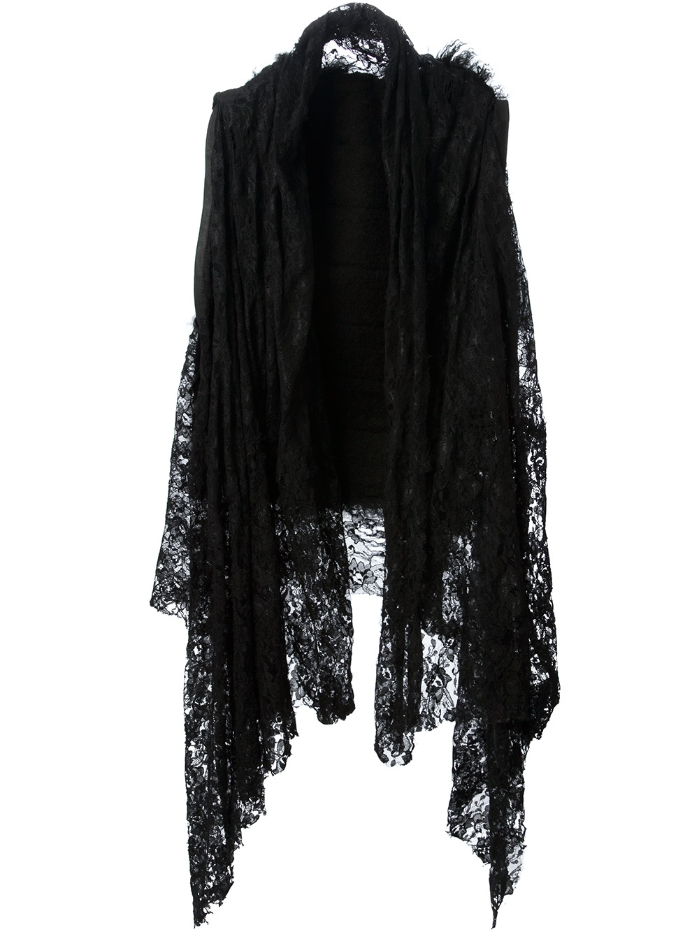 Simona tagliaferri Long Lace Cardigan in Black | Lyst