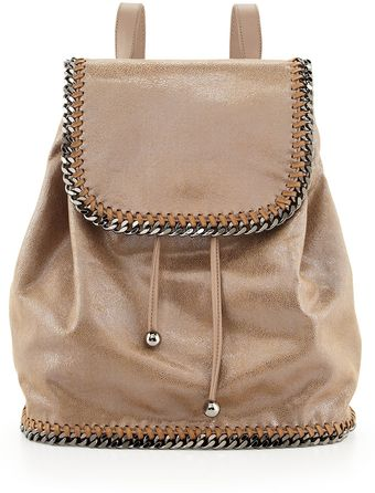 Stella McCartney Falabella Drawstring Backpack Beige - Lyst