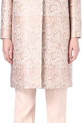 Stella McCartney Python Printed Coat - Lyst