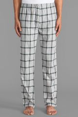 Steven Alan Plaid Pj Pant in Gray - Lyst