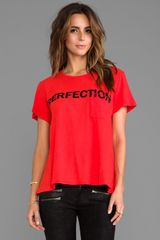 Textile Elizabeth And James Perfection Bowery Tee in Orange - Lyst
