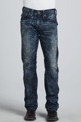 True Religion Ricky Acid Wash Jean Blackgray - Lyst