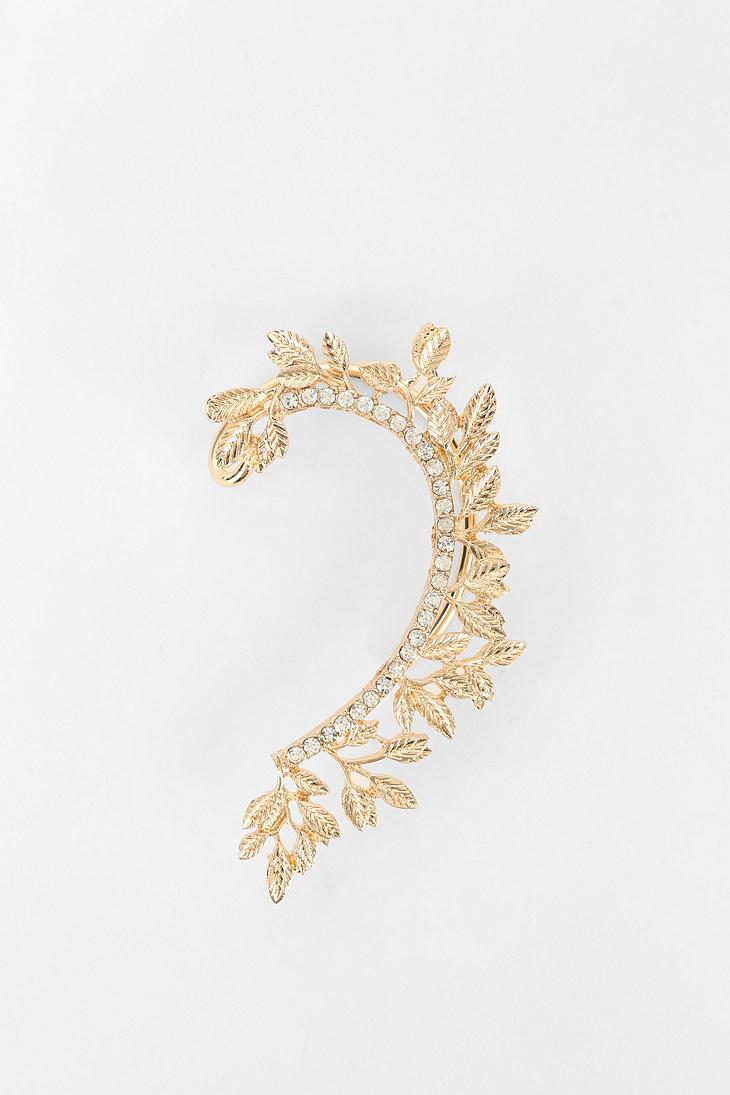 Lyst Urban Outers Rhinestone Vine Cuff Earrings In Metallic Earring Gold