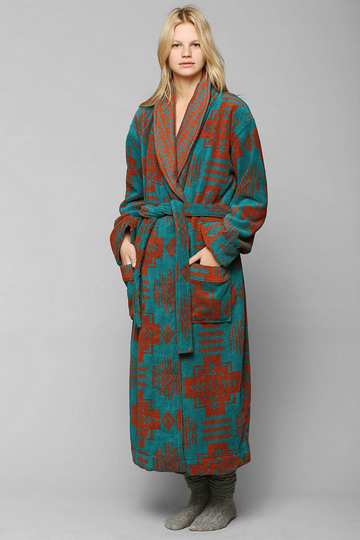045512f8a9 Lyst - Urban Outfitters Terry Cloth Robe in Green