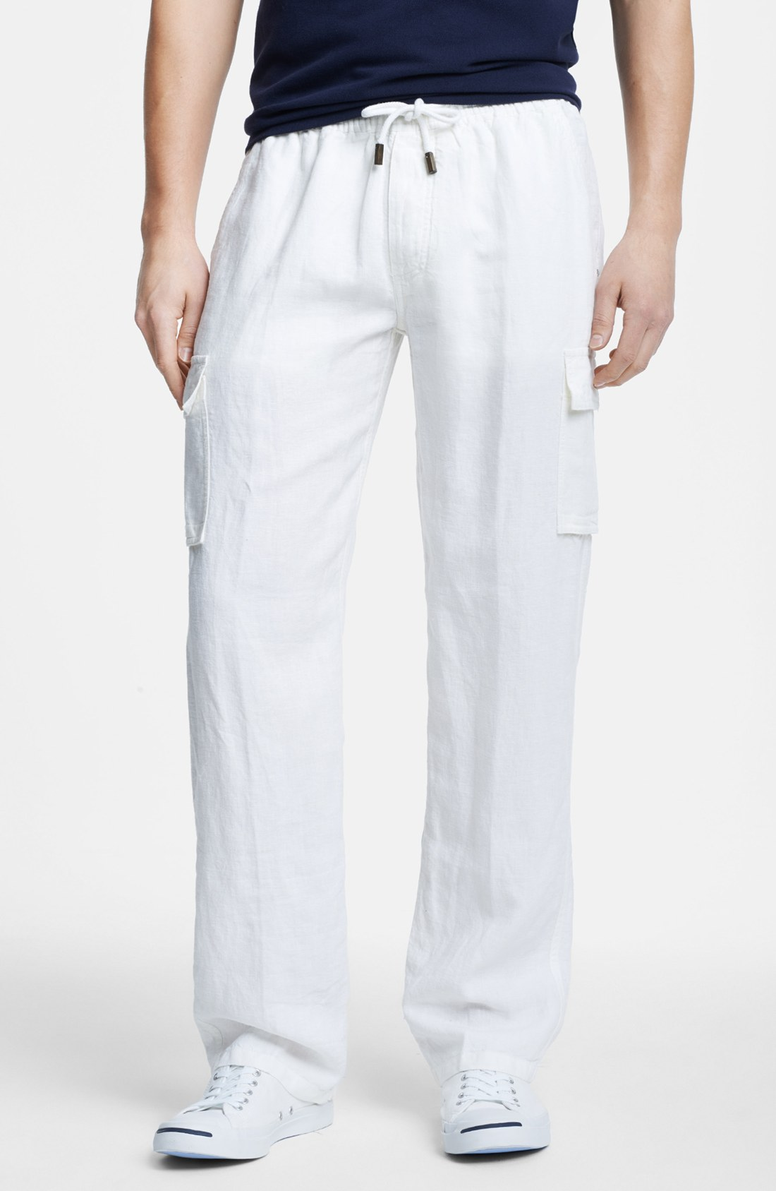 Vilebrequin Ponant Linen Cargo Pants in White for Men | Lyst