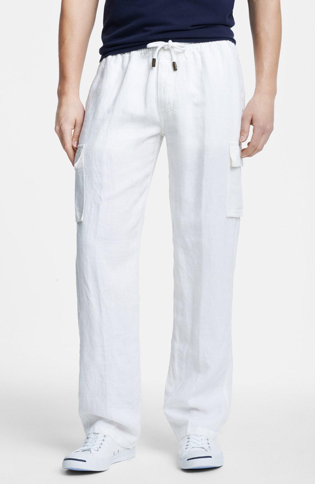 linen cargo pants for men - Pi Pants