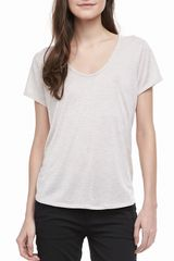Vince Short sleeve Scoop Neck Tee - Lyst