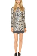10 Crosby by Derek Lam Sequin Dress - Lyst