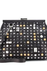 3.1 Phillip Lim Frame Embellished Leather Clutch - Lyst