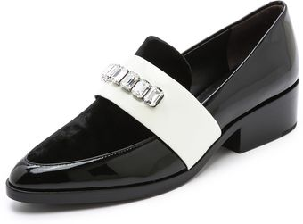 3.1 Phillip Lim Quinn Loafers with Stones - Lyst