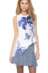 3.1 Phillip Lim Sequined Print Muscle Tank - Lyst