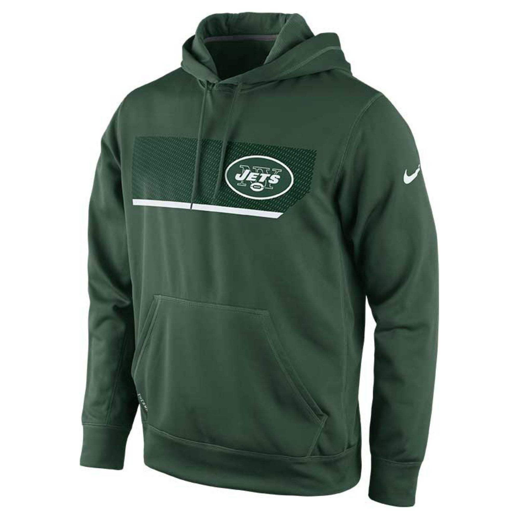 New York Performance: Nike Mens New York Jets Performance Hoodie In Green For