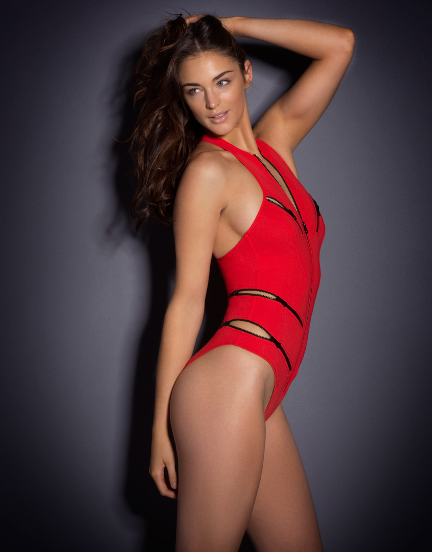 34fcd63558b3f Agent Provocateur Blaize Swimsuit in Red - Lyst